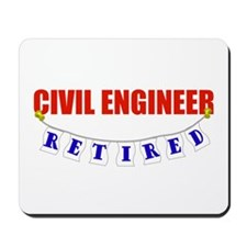 Retired Civil Engineer Mousepad
