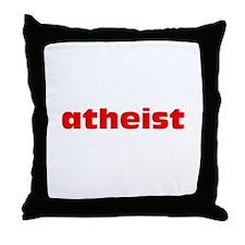 Red Atheist Throw Pillow