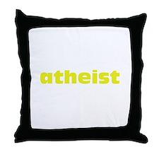Yellow Atheist Throw Pillow
