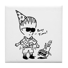 Party Character Tile Coaster