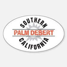 Palm Desert California Oval Decal