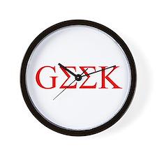Red Greek Geek Wall Clock