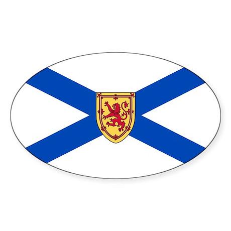 Nova Scotia Flag Oval Sticker