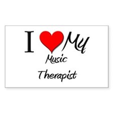 I Heart My Music Therapist Rectangle Decal