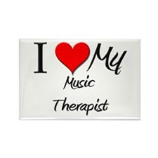 I Heart My Music Therapist Rectangle Magnet