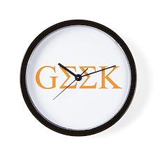Tangerine Greek Geek Wall Clock