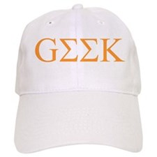 Tangerine Greek Geek Baseball Cap