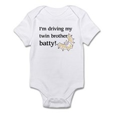 driving twin brother batty Infant Bodysuit