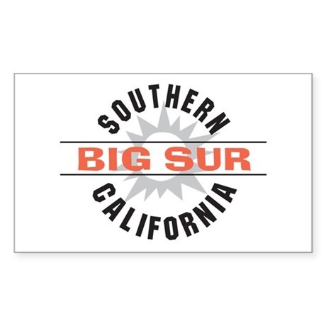 Big Sur California Rectangle Sticker