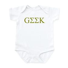 Gold Greek Geek Infant Bodysuit