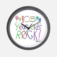 105 Year Olds Rock ! Wall Clock