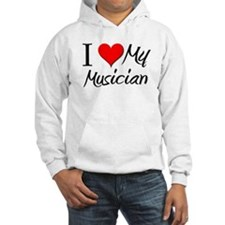 I Heart My Musician Hoodie