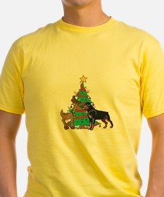 Rottweiler and Reindeer Christmas T