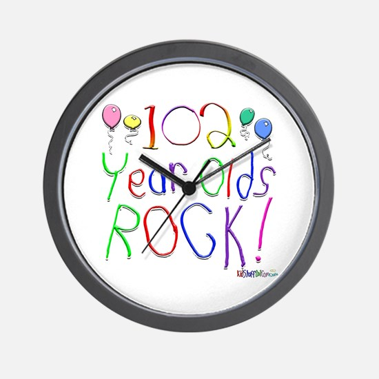 102 Year Olds Rock ! Wall Clock