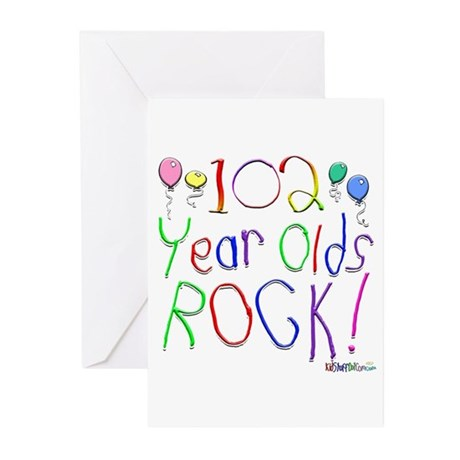 102 Year Olds Rock ! Greeting Cards (Pk of 10)