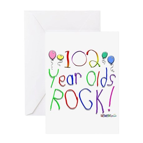 102 Year Olds Rock ! Greeting Card