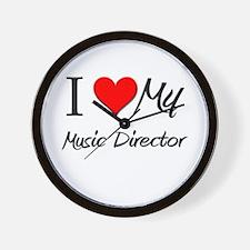 I Heart My Music Director Wall Clock
