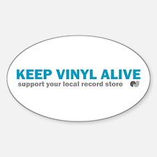 Keep Vinyl Alive Oval Decal