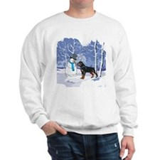 Rottweiler & Snowman Christmas Sweatshirt