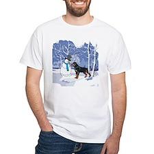 Rottweiler & Snowman Christmas Shirt