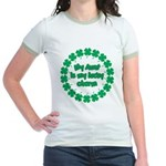 My Aunt is My Lucky Charm Jr. Ringer T-Shirt