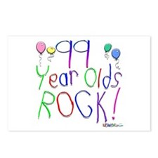 99 Year Olds Rock ! Postcards (Package of 8)