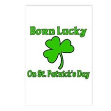 Born Lucky on St Patricks Day Postcards (Package o