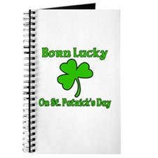 Born Lucky on St Patricks Day Journal