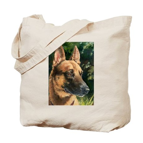 Tote Bag with Belgian Malinois
