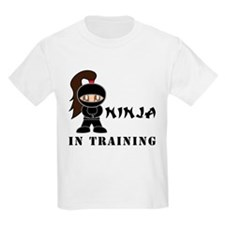 Brunette Ninja In Training T-Shirt
