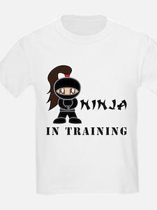 Brunette Ninja In Training T-Shirt
