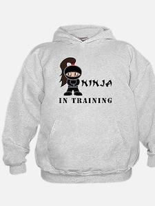 Brunette Ninja In Training Hoodie