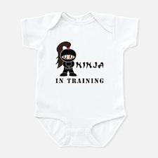 Brunette Ninja In Training Infant Bodysuit