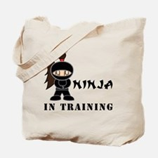 Brunette Ninja In Training Tote Bag