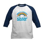 world's coolest sister Kids Baseball Jersey