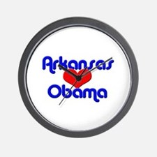 Arkansas For Obama Wall Clock