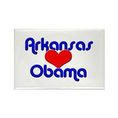 Arkansas For Obama Rectangle Magnet (10 pack)