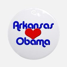 Arkansas For Obama Ornament (Round)