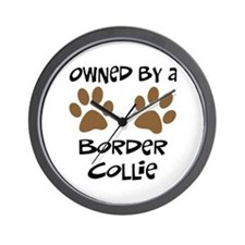 Owned By A Border Collie Wall Clock