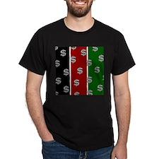 Dollar Sign Pattern Kenya T-Shirt