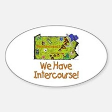 PA-Intercourse! Oval Decal