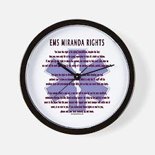 EMS Miranda Rights Gifts Wall Clock