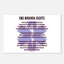 EMS Miranda Rights Gifts Postcards (Package of 8)