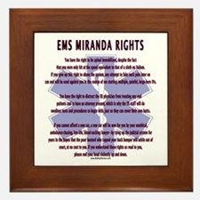 EMS Miranda Rights Gifts Framed Tile