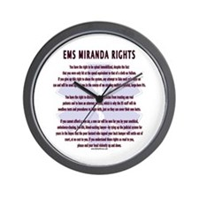 EMS Miranda Rights Gifts Wall Clock
