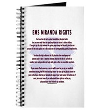 EMS Miranda Rights Gifts Journal