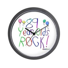 89 Year Olds Rock ! Wall Clock