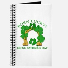 Born Lucky on St. Pats Day Journal