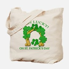 Born Lucky on St. Pats Day Tote Bag