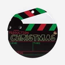 Christmas Clapper Board Round Ornament